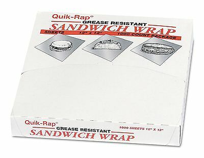 "Dixie Quik-Rap Sandwich Wraps, 12"" x 12"", 1 pk. (1,000 sheets)"