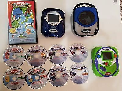 Big Lot 2 Video Now Pvd Players Color Screen With 11 Discs Dvd Videos For Kids
