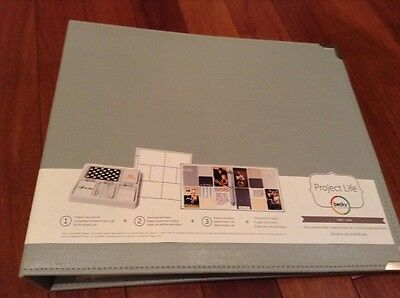 Project Life Faux Leather Album,12x12-Inch,Grey And Silver,New,Free Shipping