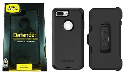 Otterbox Defender Case with Belt Clip Holster for iPhone 8 Plus 7 Plus Black