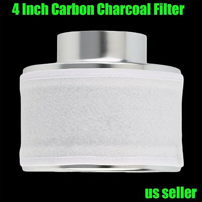 "4"" Carbon Charcoal Filter Odor Control Scrubber Fit Grow Light Tent Fan US new h"
