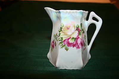 Vintage Floral Creamer Luster Hand Painted from Germany