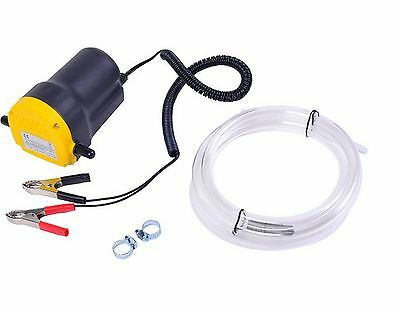 Fuel Transfer Pump Fluid Oil Diesel Extractor Electric Motor 12V 5A Suction New