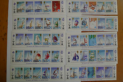 Solomon Islands Sailing America S Cup 10 Souv Sheets  570-4 A-J,50 Diff Stamps