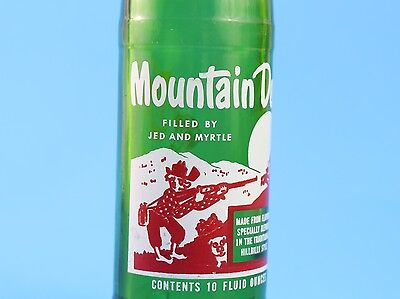 Vintage (1960s) Mountain Dew Hillbilly Bottle 10 oz Filled By: Jed and Myrtle