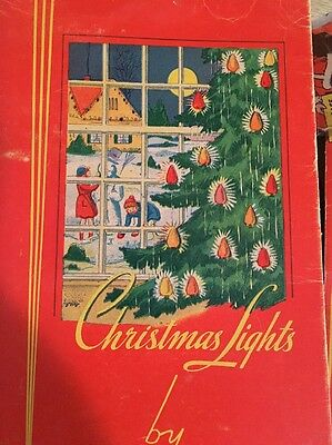 Vintage Christmas Tree Lights by Noma with Original Box