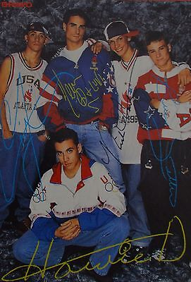 BACKSTREET BOYS - Autogrammkarte - Autograph Autogramm Fan Sammlung Clippings