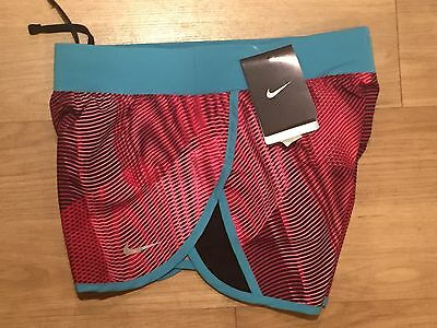 Nike Girls Tempo Printed Running Athletic Shorts 728096 607 Red Youth SIZE XS