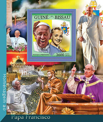 Guinea-Bissau 2016 MNH Pope Francis 1v S/S Popes Stamps