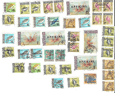 Lot of 41 old stamps from Tanzania