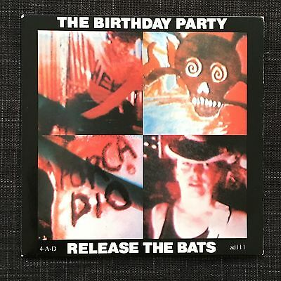 "Birthday Party Release The Bats Original 1981 UK Vinyl 7"" On 4AD Records"