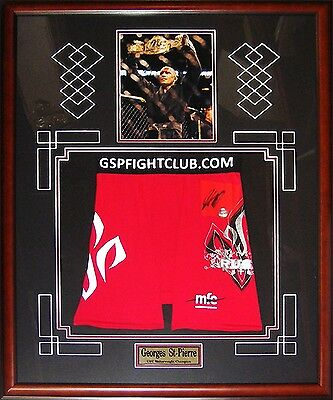 Autographed Georges St-Pierre Red MMA Trunks - Autograph Authentic
