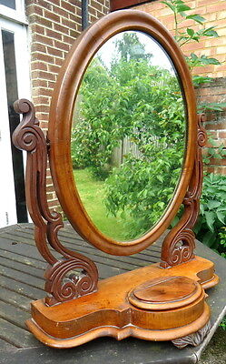 WILLIAM IV. Dressing  Table Swivel Mirror with a Serpentine Base.  C1830 - 1850.