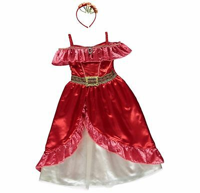 New George Disney Elena of Avalor Kids Girls Fancy Dress Outfit Costume