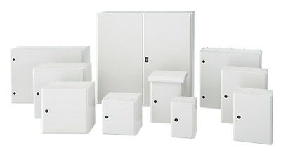 Electrical Enclosure Steel wall mount Box IP65 with back plate - Tempa pano