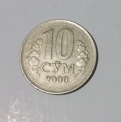 2000 Uzbekistan 10 Som coin from former USSR Russian state