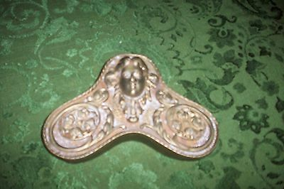 Vintage Solid Original Victorian Bronze Piece Circa Early 1900's V/g Condition