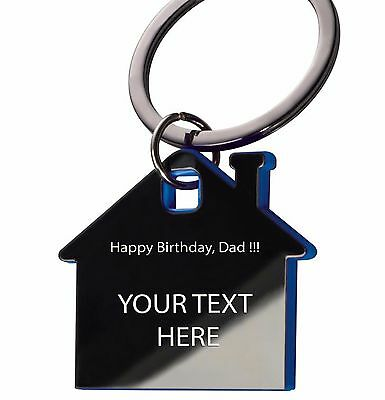 Personalised Keyring engraved with photo text or logo Gift Wedding Birthday.Home