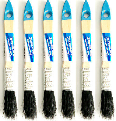 10 x 12mm 1/2inch DISPOSABLE PAINT BRUSHES PURE BRISTLES DECORATING DECOR GLOSS