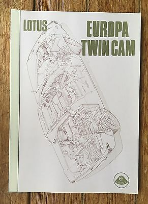 Lotus Europa Twin Cam  Service  Manual Brochure 7