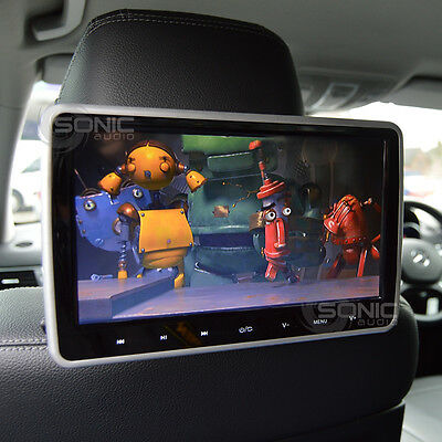 Universal 12v Car Tablet-Style HD Headrest DVD Player/Screen USB/SD/HDMI Inputs