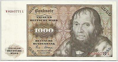 ALLEMAGNE GERMANY FEDERAL REPUBLIC 1000 D. MARK 1980 PICK 36b XF   SUP
