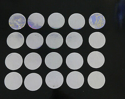 MIRRORED SILVER 25mm VINYL CIRCLES-SELF ADHESIVE x 20