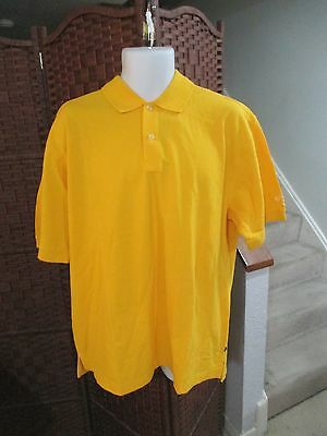 NWT Callaway Golf Shirt Yellow SIZES Large And XL Polo
