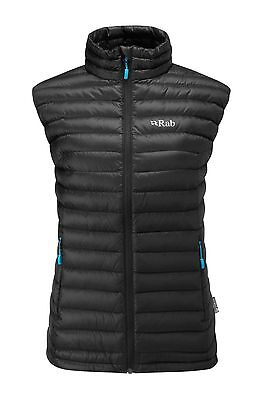 RAB Women's Microlight Vest / Gilet Twilight Blue and Black Available