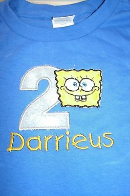 Spongbob Face Personalized Birthday Shirt ANY NAME, NUMBER & COLOR SCHEME