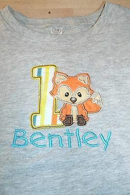 Fox Cute Woodland Personalized Birthday Shirt ANY NAME, NUMBER, COLOR