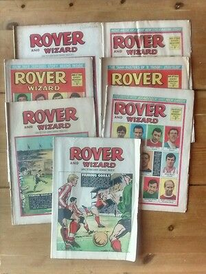 Rover and Wizard 6 issues from 1969