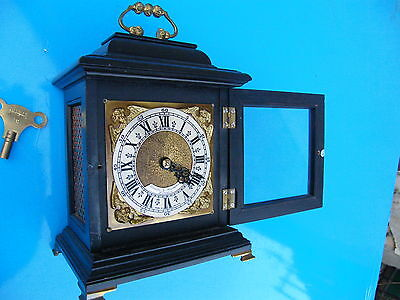 English Miniature Bracket Clock Biddle & Mumford Sell Or Swop For Old Motorbike