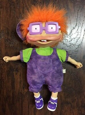 """1997 Rugrats """"Chuckie"""" Doll w/Hot/Cold Sensitive Red/Purple Changing Lips! EUC"""