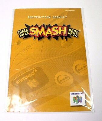 Super Smash Bros. Manual Nintendo 64 N64 Very Good Condition