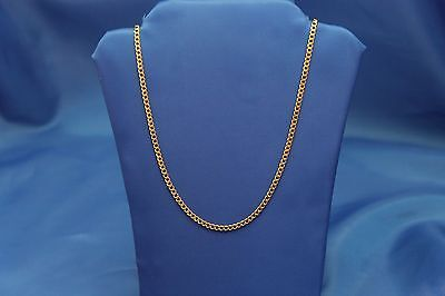 """14k Yellow Gold 2mm Cuban Link Chain Necklace 16"""" 18"""" 20"""" 24"""" & 26 Inches"""