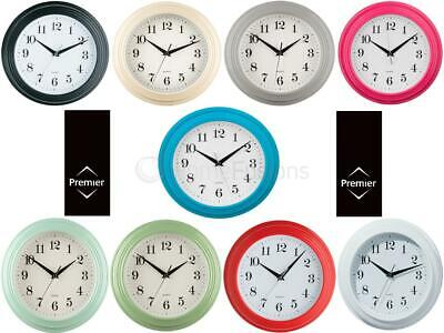 Vintage Round Plastic Wall Clock Hanging Quartz Clocks Numbers Analogue Kitchen