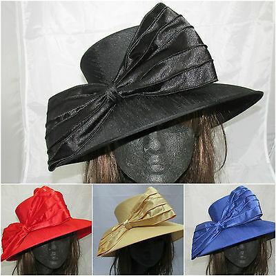 Silk Bow Crushable Wedding Occasion Mother of Bride/Groom Ascot Races Derby Hat