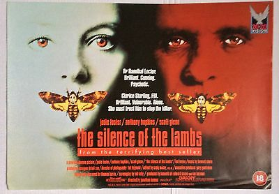 Silence Of The Lambs / Original Vintage Video Film Poster / Jody Foster 2