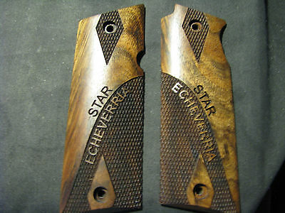 Star Super B ONLY Partially Checkered w/Logo French Walnut Pistol Gun Grips NEW!