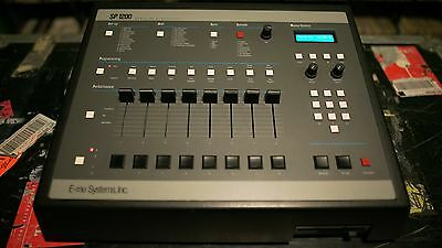 E-mu SP 1200 Black Reissue Immaculate Wrkn Cond! Blue LED Display! Input Mon Mod