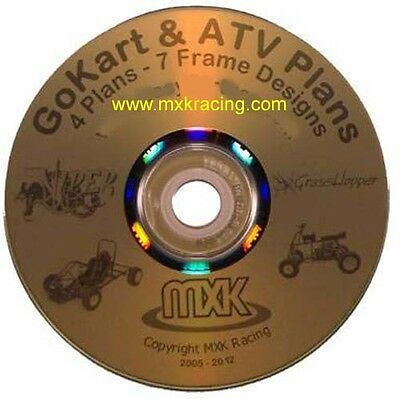 Gokart Plans Offroad ATV Quad Bike Father/Son FUN PROJECT on CD with jewel case