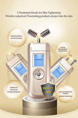 Facial Contouring- 3 in 1 Machine TREAT Wrinkles/ Lines/ Galvanic Serum Infusion