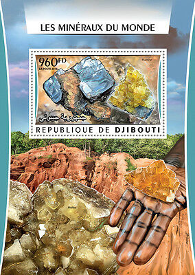Djibouti 2016 MNH Minerals of the World Galena Fluorite 1v S/S Stamps