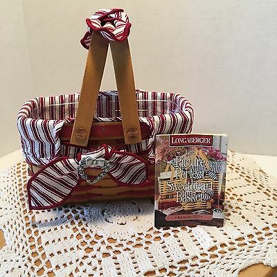 Longaberger ~ 1998 Picture Perfect Sweetheart Basket Combo