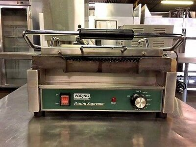 Waring Commercial Wpg250 Panini Supremo Grill #11238