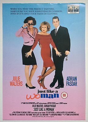 Just Like A Woman / Original Vintage Video Film Poster / Julie Walters 2