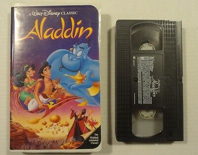 Rare Black Diamond Walt Disney The Classics Aladdin! VHS Cartoon Movie! Lot 1