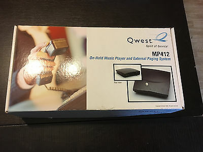 Qwest MP412 On-Hold music player and external paging system