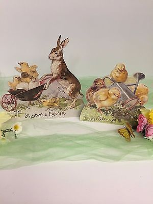 Bethany Lowe Rabbit and Chick Dummy Boards (RL6566): Sold as a Set of 2